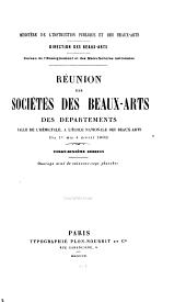 Réunion des sociétés des beaux-arts des départements ...: Volume26