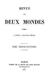 REVUE DES DEUX MONDES L ANNEE.- TROISIEME PERIODE