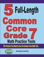 5 Full Length Common Core Grade 7 Math Practice Tests PDF