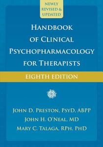 Handbook of Clinical Psychopharmacology for Therapists Book