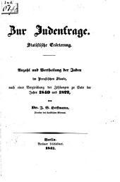 Zur Judenfrage: statistische Erörterung