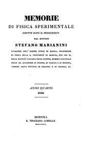 Memorie di Fisica sperimentale scritte dopo il 1836: Volume 4