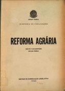 Reforma agr  ria  t  1  Debates paramentares  Senado Federal PDF