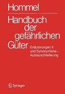 Handbuch der gef  hrlichen G  ter  Erl  uterungen II  Austauschlieferung  Dezember 2008 PDF