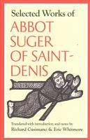 Selected Works of Abbot Suger of Saint Denis PDF