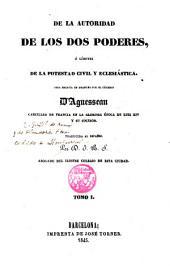 De la autoridad de los dos poderes: ó límites de la potestad civil y eclesiástica