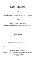 Easy Lessons  Or  Self instruction in Irish PDF