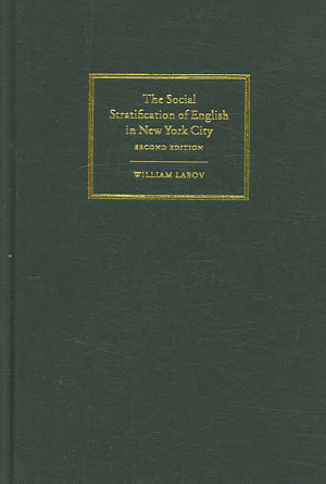 The Social Stratification of English in New York City PDF