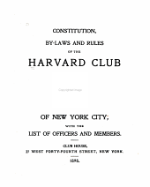 Constitution By-laws and List of the Members, with the Officers