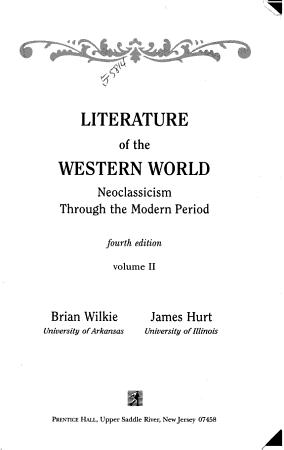 Literature of the Western World PDF