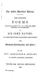The Complete Poems: (including Psalms I. to L. in Verse, and Other Hitherto Unpublished Mss.)