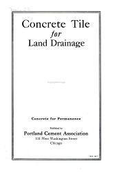 Concrete Tile for Land Drainage ..