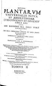 Historia plantarum vniuersalis noua et absolutissima cum consensu et dissensu circa eas