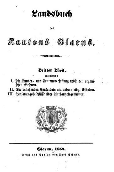 Landsbuch des Kantons Glarus PDF
