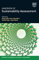 Handbook Of Sustainability Assessment