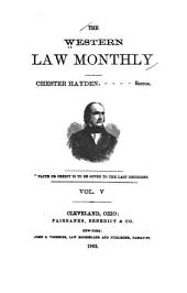 The Western Law Monthly: Volume 5