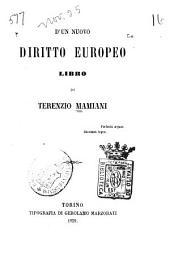 D'un nuovo diritto europeo: libro