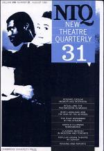 New Theatre Quarterly 31: Volume 8, Part 3