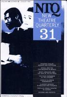 New Theatre Quarterly 31  Volume 8  Part 3 PDF