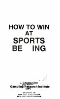How to Win at Sports Betting PDF