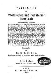 Zeitschrift für Philosophie und spekulative Theologie: Band 3