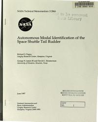 Autonomous Modal Identification of the Space Shuttle Tail Rudder