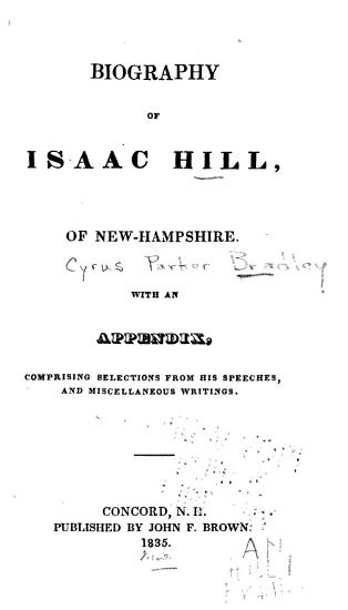 Biography of Isaac Hill  of New Hampshire PDF