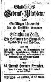 Glauchisches Gedenck-Büchlein, etc