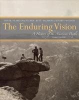 The Enduring Vision  A History of the American People PDF