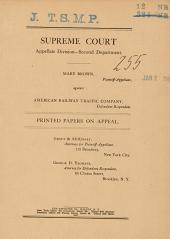 Supreme Court Printed Papers on Appeal