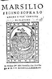 Sopra lo amore over convito di Platone
