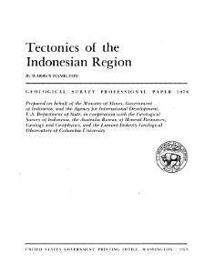 Tectonics of the Indonesian Region