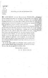 Lodewijk Napoleon, door de gratie Gods en de Constitutie des Koningrijks, Koning van Holland, Connétable van Frankrijk. ... wet, vervattende de verordeningen van de wijze waarop, en de fondsen waaruit voortaan de dijken zullen worden onderhouden ... [etc.]