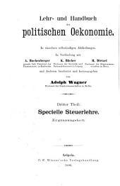 Finanzwissenschaft ..: Die britische und französische Besteuerung in ihrer neuesten Entwicklung und Gestaltung: 1886-1896