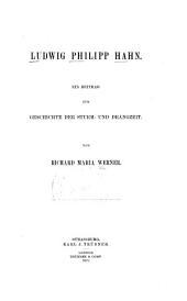 Ludwig Philipp Hahn: ein Beitrag zur Geschichte der Sturm- und Drangzeit
