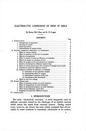 Electrolytic corrosion of irons in soils