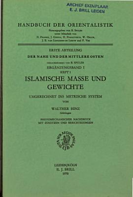 Islamische Masse und Gewichte PDF