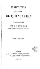 Institution oratione de Quintilien, 5