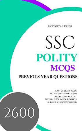 DP s SSC GK Subjectwise MCQ Series  POLITY  Previous Year Questions  PDF