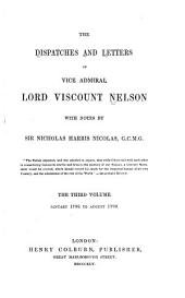 The Dispatches and Letters of Vice Admiral Lord Viscount Nelson: With Notes, Volume 3