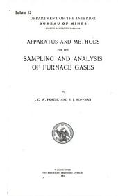 Apparatus and methods for the sampling and analysis of furnace gases: Volumes 10-14