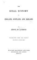 The Rural Economy of England  Scotland  and Ireland     Translated from the French with Notes by a Scottish Farmer PDF