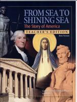 From Sea to Shining Sea the Story of America Teacher s Edition PDF