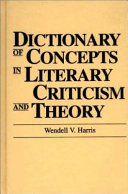 Dictionary of Concepts in Literary Criticism and Theory PDF