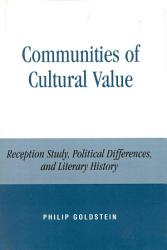 Communities of Cultural Value PDF