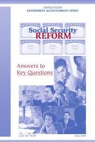 Social security reform answers to key questions  PDF