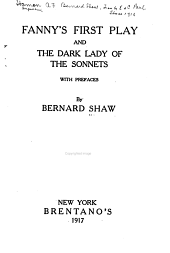 Fanny's First Play: And The Dark Lady of the Sonnets