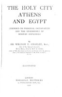 The Holy City, Athens and Egypt