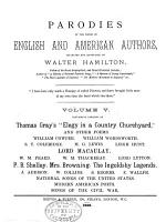 Parodies of the Works of English   American Authors PDF
