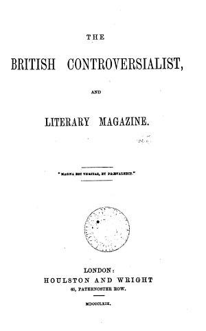 The British Controversialist and Literary Magazine